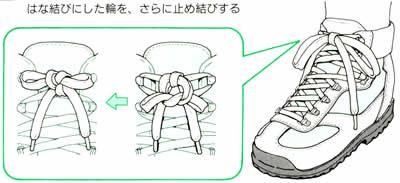 蝶結びの種類 靴紐 70